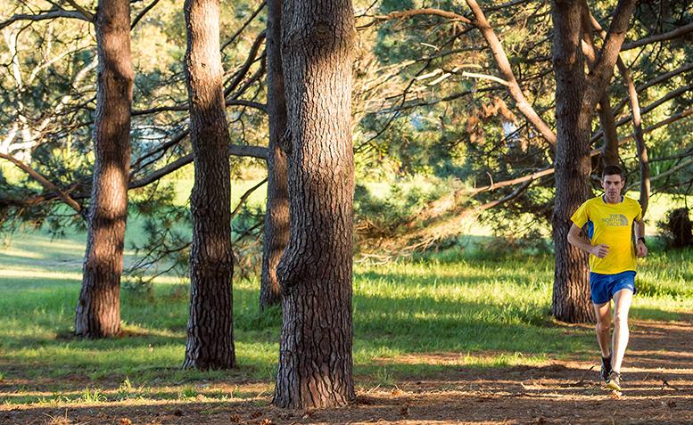Andrew Tuckey in Centennial Park, Sydney