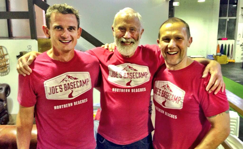 Joe, Henry and Sir Chris Bonington