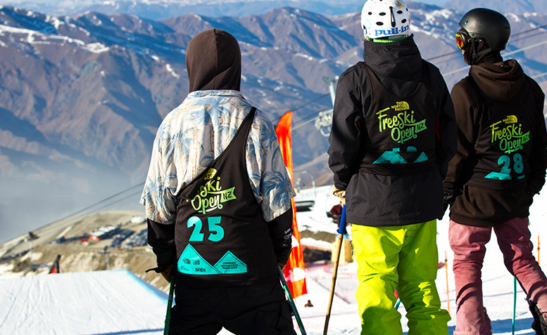 Hank Bilous at The North Face Freeski Open NZ