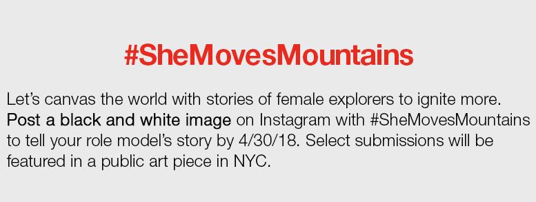 #SheMovesMountains