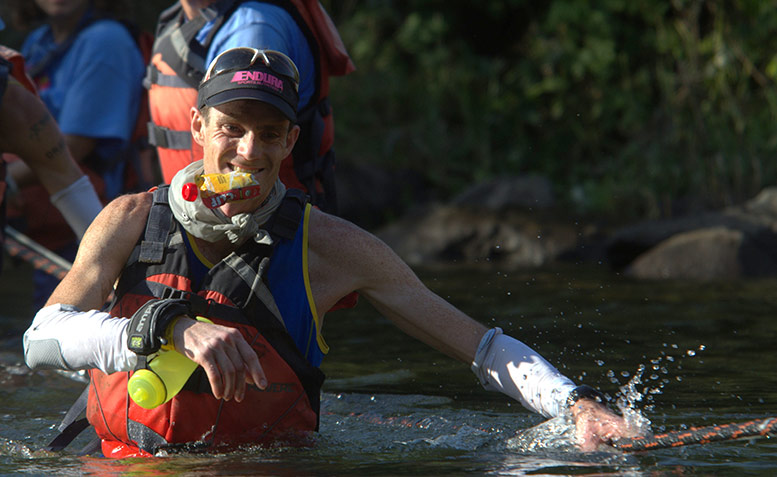Andrew Tuckey at the river crossing during WSER shot by Mojoscoast