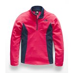 Image of The North Face Australia Atomic Pink GIRLS' GLACIER 1/4 ZIP