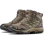 Image of The North Face Australia Dune Beige/Deep Garnet Red WOMEN'S HEDGEHOG FASTPACK MID GTX