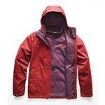 Image of The North Face Australia Rage Red/Fig Brown MEN'S ARROWOOD TRICLIMATE JACKET