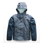 Image of The North Face Australia BLUE WING TEAL HEATHER GIRLS' RESOLVE REFLECTIVE JACKET