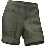 Image of The North Face Australia GRAPE LEAF HEATHER WOMEN'S HORIZON 2.0 ROLL-UP SHORTS