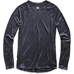 Image of The North Face Australia TNF DARK GREY HEATHER (STD) WOMEN'S WOOL BASELAYER LONG-SLEEVE CREW NECK