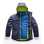 Image of The North Face Australia Cosmic Blue/Lime Green BOYS' BOUNDARY TRICLIMATE® JACKET