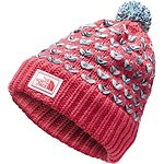 Image of The North Face Australia Atomic Pink/Origin Blue Space dye GIRLS' CHUNKY POM BEANIE
