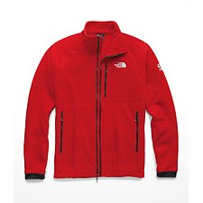 Image of The North Face Australia FIERY RED MEN'S SUMMIT L2 PROPRIUS GRID FLEECE HOODIE