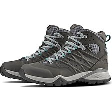 Image of The North Face Australia Q-SILVER GREY/PORCELAIN GREEN WOMEN'S HEDGEHOG HIKE II MID GTX