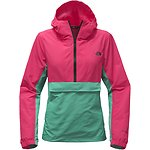 Image of The North Face Australia RASPBERRY RED/SPCTR GREEN/HIGH RISE GREY WOMEN'S CREW RUN WIND ANORAK