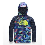 Image of The North Face Australia Cosmic Blue Ombre Camo Print BOYS' SURGENT 2.0 PULLOVER HOODIE