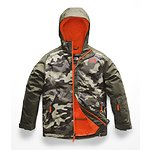 Image of The North Face Australia New Taupe Green Camouflage Print BOYS' BRAYDEN INSULATED JACKET