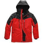 Image of The North Face Australia FIERY RED/TNF BLACK MEN'S CHAKAL JACKET
