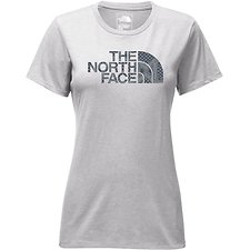 Image of The North Face Australia TNF LIGHT GREY HEATHER/BLUE WING TEAL BND PRINT WOMEN'S SHORT SLEEVE HALF DOME CREW