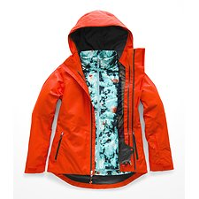 Image of The North Face Australia VALENCIA ORANGE WOMEN'S CLEMENTINE TRICLIMATE®  JACKET