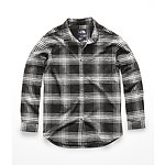Image of The North Face Australia Vintage White Large Tartan Plaid WOMEN'S LONG-SLEEVE BOYFRIEND SHIRT
