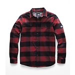 Image of The North Face Australia Caldera Red Bowden Plaid MEN'S LONG-SLEEVE STAYSIDE SHIRT