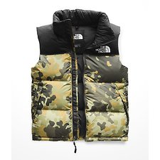 Image of The North Face Australia New Taupe Green Macro fleck Print MEN'S 1996 RETRO NOVELTY NUPTSE VEST